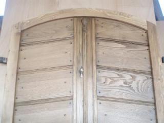 porte d'entrée doubles en chene