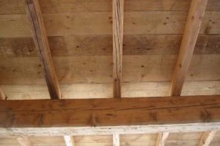 plafond en vieilles plaches