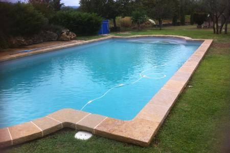 margelles de piscine finition brochée