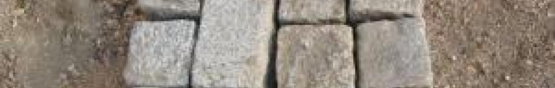 pavés de rue en pierre