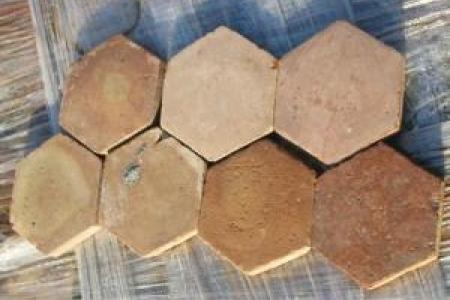 tomettes anciennes hexagonales de bourgogne