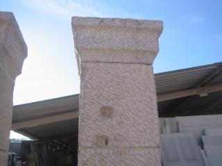 fabrication d'une paire de pilier en pierre froide